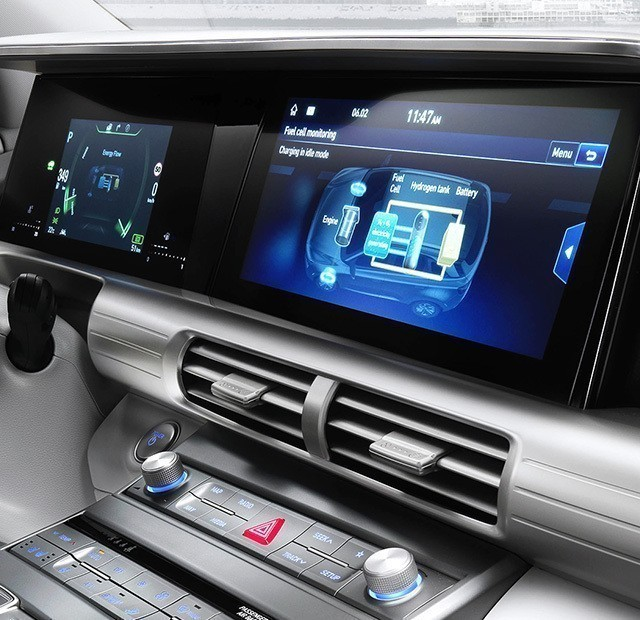 "12.3"" high-res touch screen navigation"